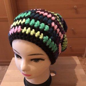 Unikat Einzelstück Cappello all'uncinetto multicolore