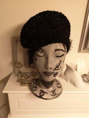 Mütze schwarzsilber