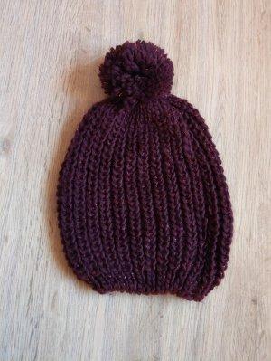 Accessoires Sombrero de punto púrpura
