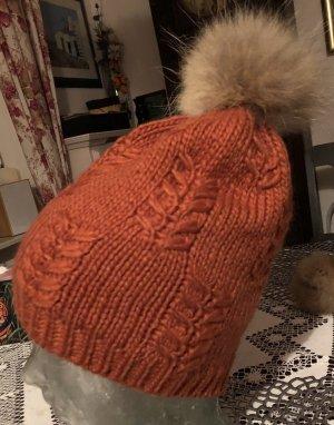 Mütze Strickmütze Pudelmütze Bommelmütze ONE SIZE &Futter