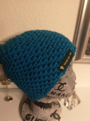 Handmade Crochet Cap turquoise