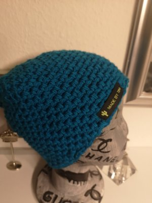 Handmade Cappello all'uncinetto turchese