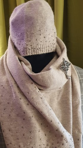1.2.3 Paris Woolen Scarf light grey-beige