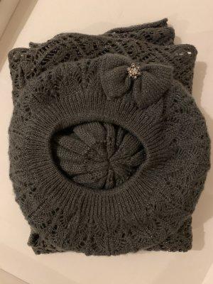 Accessorize Chapeau en tricot gris anthracite