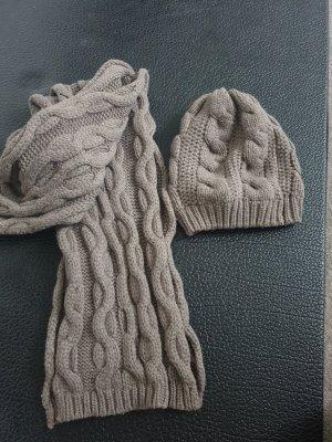 Blaumax Bufanda de lana marrón claro