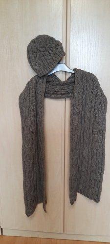 Apriori Crochet Cap dark grey-grey polyacrylic