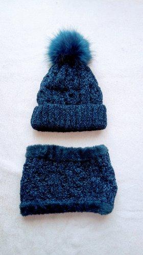 keine Marke Cappello a maglia blu scuro