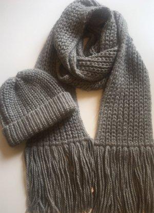 Comptoir des Cotonniers Sciarpa lavorata a maglia grigio