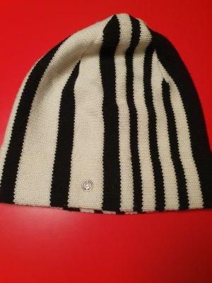 Bogner Bonnet blanc-noir