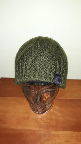 Bula Knitted Hat olive green wool