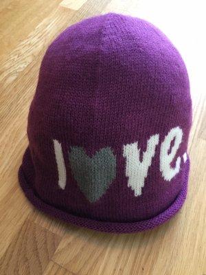 Esprit Chapeau en tricot violet