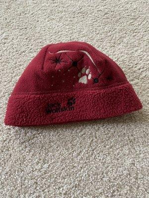 Jack Wolfskin Sombrero de tela rojo oscuro