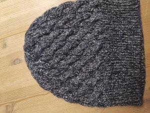 Joop! Sombrero de punto negro-gris Lana