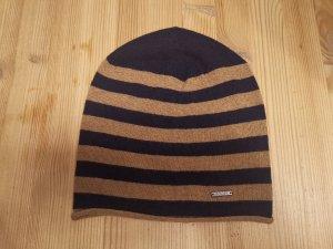 Joop! Sombrero de tela beige-azul oscuro poliamida