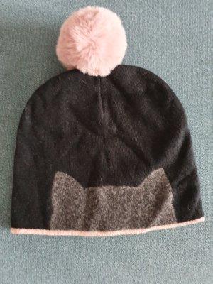 Karl Lagerfeld Sombrero de punto gris antracita-rosa