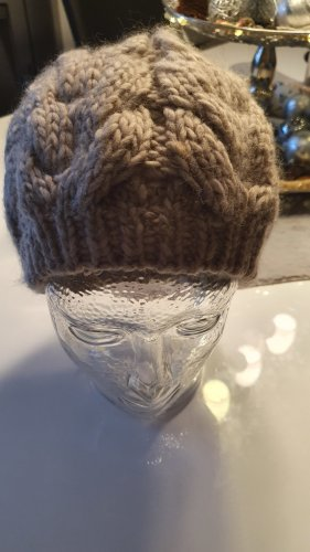 Promod Knitted Hat grey-grey brown
