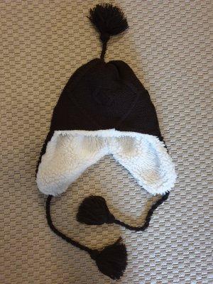 Schöffel Cappello in tessuto bianco-marrone scuro
