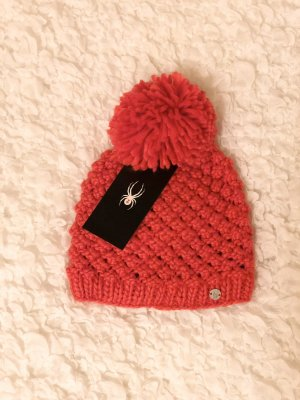 Spyder Knitted Hat bright red