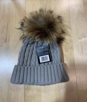 Tartan House Wełniana czapka jasnoszary-szary