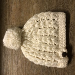 Seeberger Knitted Hat natural white