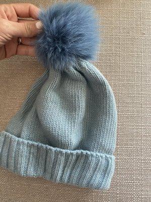 xxx Wełniana czapka błękitny
