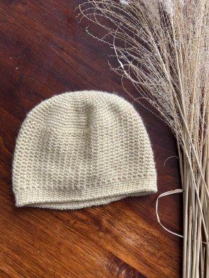 Handmade Knitted Hat pale yellow-primrose