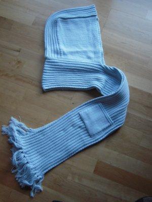 Gebreide sjaal lichtblauw