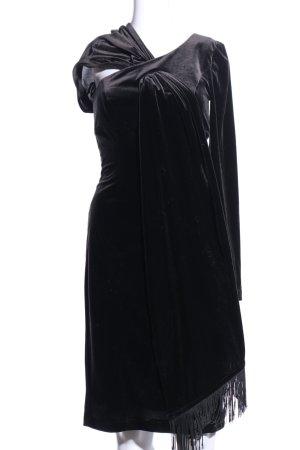Mugler Minikleid schwarz extravaganter Stil