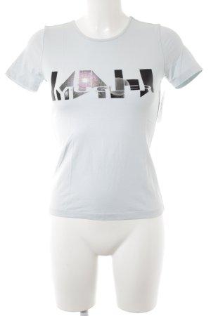 Mugler T-Shirt schwarz-mint sportlicher Stil