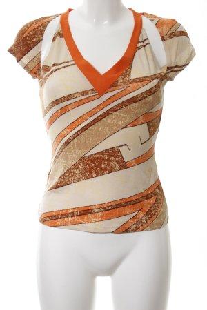 Mugler V-Ausschnitt-Shirt abstraktes Muster Casual-Look