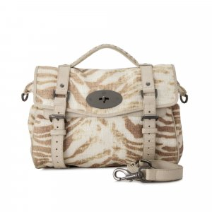 Mulberry Alexa Cotton Weave Satchel