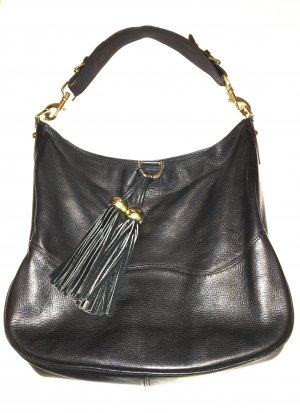 Mulberry Bag Shopper Boho Leder Schwarz