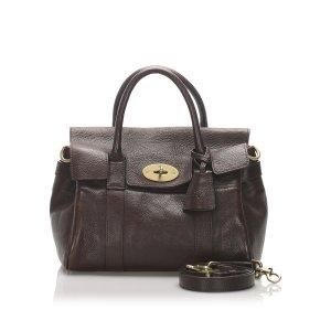 Mulberry Satchel dark brown leather