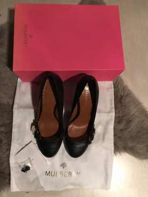 Mulberry Pumps black-gold-colored leather