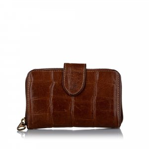 Mulberry Croc Embossed Leather Wallet