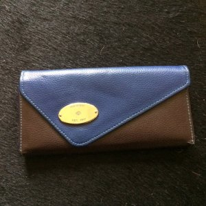 Mulberry Wallet light brown-blue leather