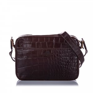 Mulberry Embossed Leather Crossbody Bag