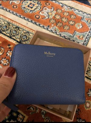 Mulberry Wallet steel blue leather