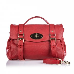 Mulberry Satchel red leather