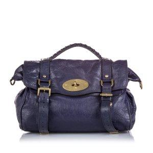 Mulberry Satchel dark blue leather