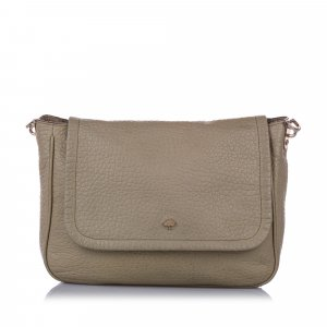 Mulberry Leather Flap Crossbody Bag