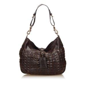 Mulberry Shoulder Bag dark brown leather