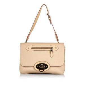 Mulberry Shoulder Bag beige leather