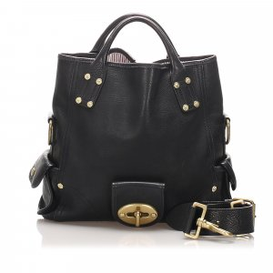 Mulberry Leather Tote Bag