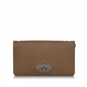 Mulberry Leather Wallet on Chain