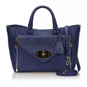 Mulberry Tote blue leather