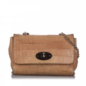 Mulberry Medium Embossed Lily Shoulder Bag