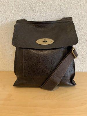 Mulberry Bolsa de hombro marrón oscuro Cuero
