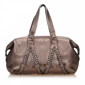 Mulberry Handbag silver-colored leather