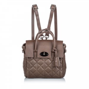 Mulberry Backpack brown leather
